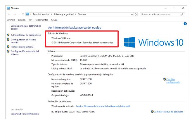 Edidicon de Windows 10